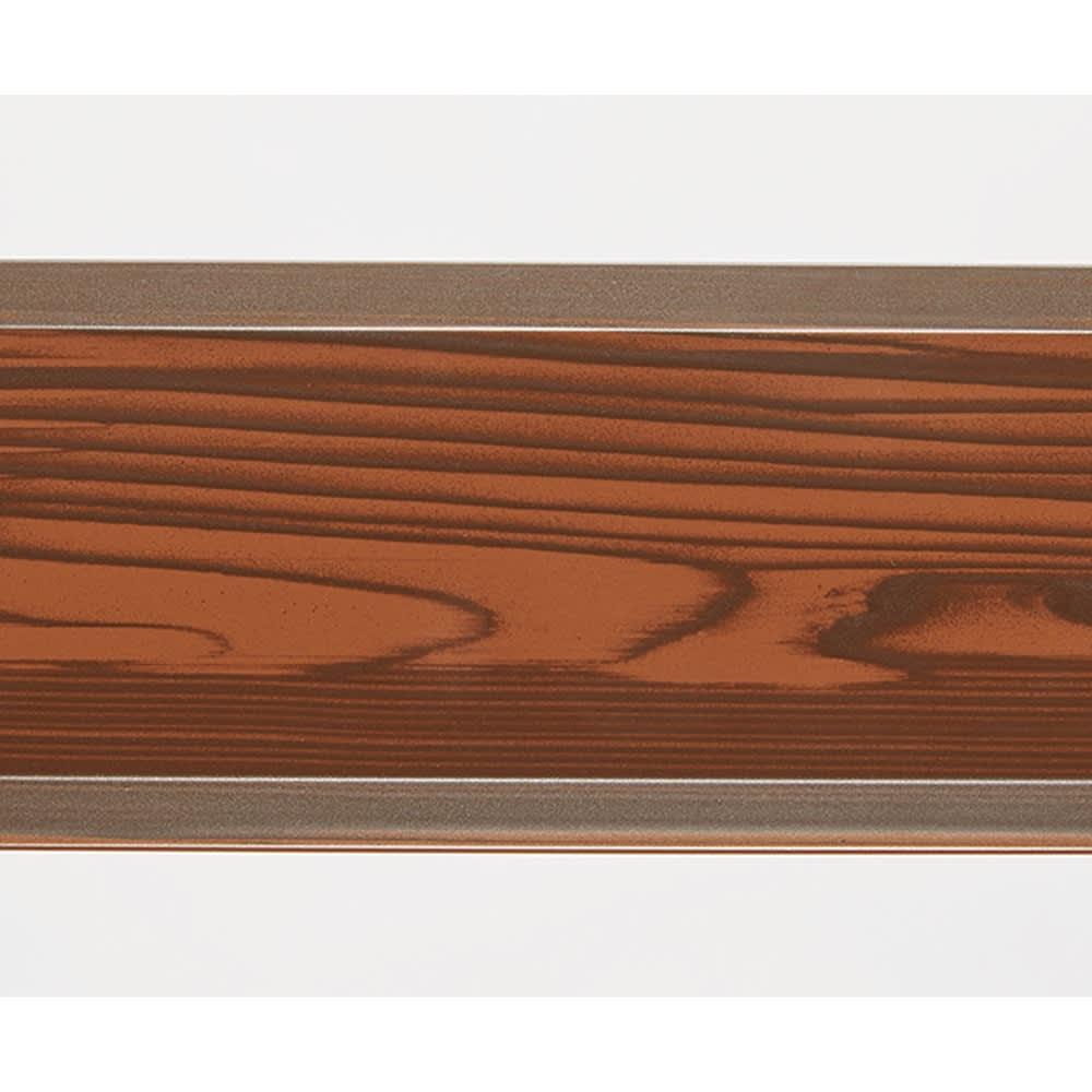 簡単リフォーム 木目調アルミボーダーフェンス ハイタイプ 幅120高さ149cm(お得な2枚組) 本物の木板のようなプリントで、温かみのある仕様です。
