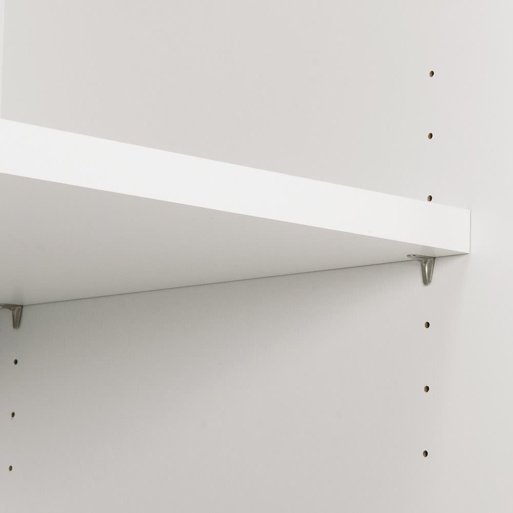 ペットを飼っている人のための 下オープン収納庫 引出タイプ幅60cm高さ180cm 下段オープン部高さ30cm 可動棚板は3cm間隔で高さ調節できます。