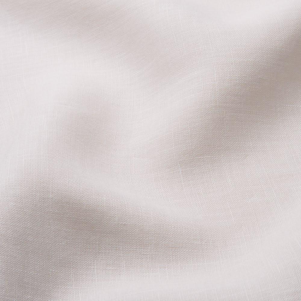 【LINEN & BASIC/リネン&ベーシック】 リネン100%カバーリング ピローケース(1枚) (ア)サンドベージュ 生地アップ 日本の染色工場独自の仕上げ技術により柔軟剤を使うことなくソフトでなめらかな風合いに仕上げています。