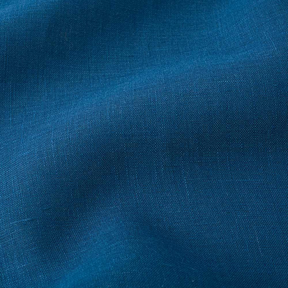 【LINEN & BASIC/リネン&ベーシック】 リネンのれん(1枚) 幅約45cm ポジャギ風(パッチワークタイプ) ネイビー部分の生地アップ(ブルー系で使用)