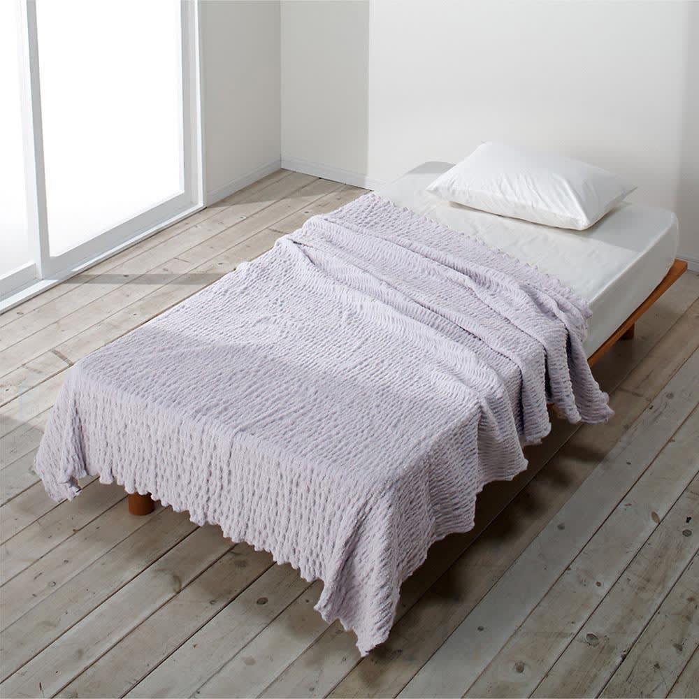 ふわふわ感が長く続く 新・くしゅくしゅ&ふわふわタオル寝具シリーズ タオルケット (イ)グレー シングルサイズ