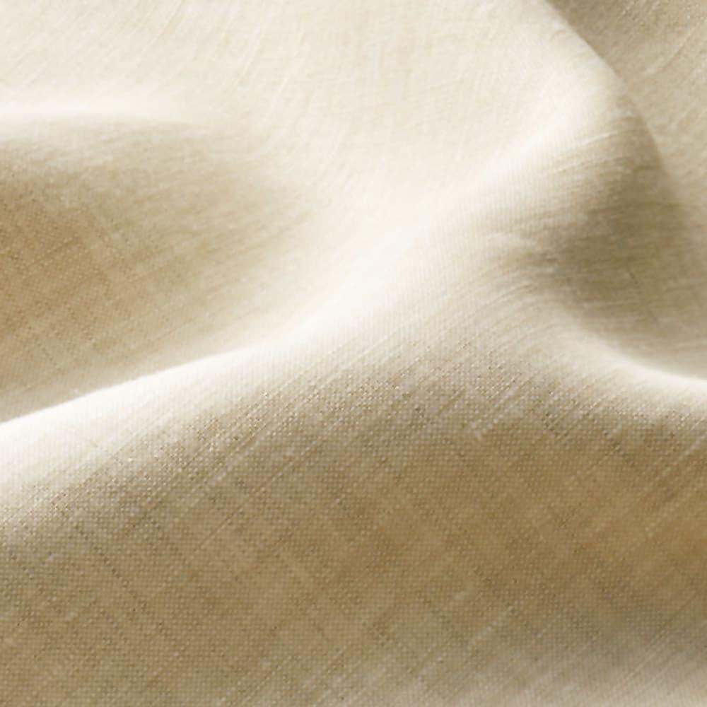 ファミリー布団用 洗える本麻ボックスシーツ(ファミリーサイズ・家族用) (ア)ベージュ生地アップ