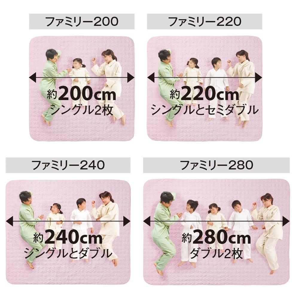 パシーマ(R)EXプラス パッドシーツ ファミリーサイズ ファミリータイプ 家族全員の汗を吸っても、気軽に洗えるパシーマ(R)ならいつも清潔!