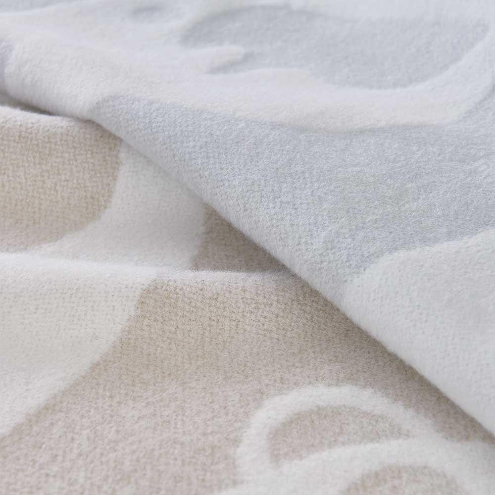 【Finlayson/フィンレイソン】アヤトス(パンダ柄) 綿毛布 シングル 綿100%のふんわり、肌にやさしい毛布