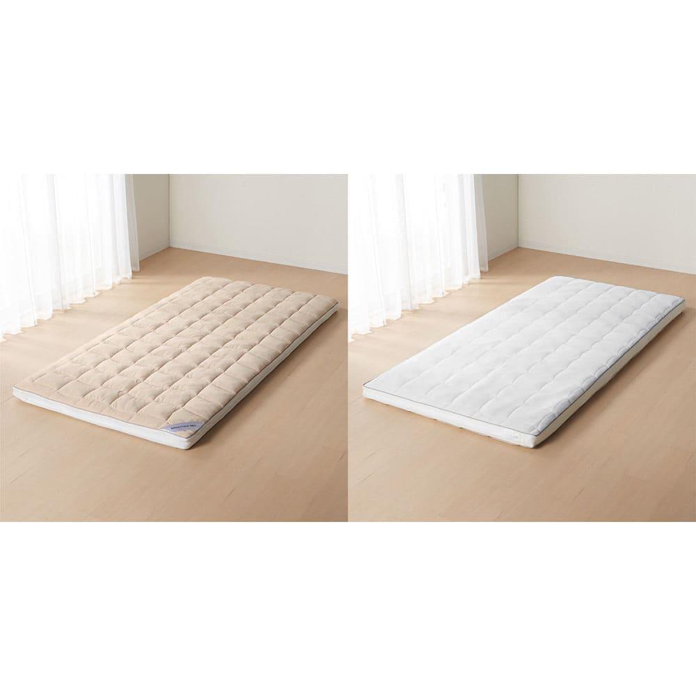 朝が違う。敷布団の決定版! ブレスエアー(R)敷布団 ネオ シリーズ 3つ折り敷布団 季節にあわせて使える快適なリバーシブル仕様。タオル地と夏にオススメのメッシュのリバーシブルで1年中快適。