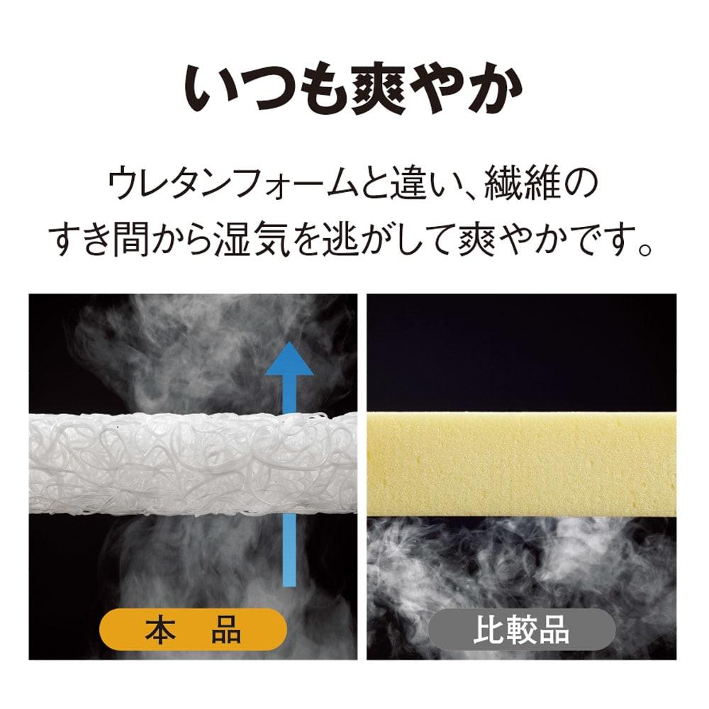 ブレスエアー(R)リュクス 敷布団 湿気と熱気をサラッと逃す!液体も素通りするほどの通気性。ムシ暑い夏も、湿気がこもる冬も、快適に過ごせます。