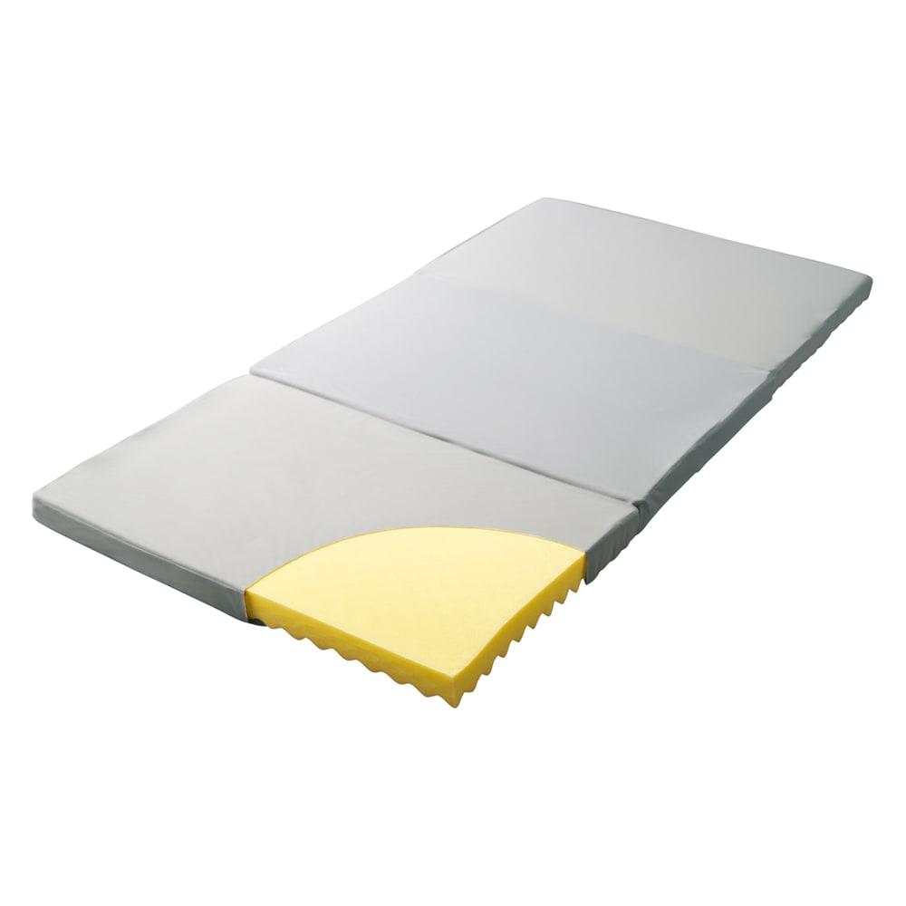 【アキレス×dinos】3つ折りマットレスシリーズ 厚さ12cm レギュラータイプ レギュラータイプ(厚さ7cm・12cm) 裏面メッシュやウェーブ加工で湿気を外へ。しっかり硬めの寝心地で毎日の快眠をサポートします。