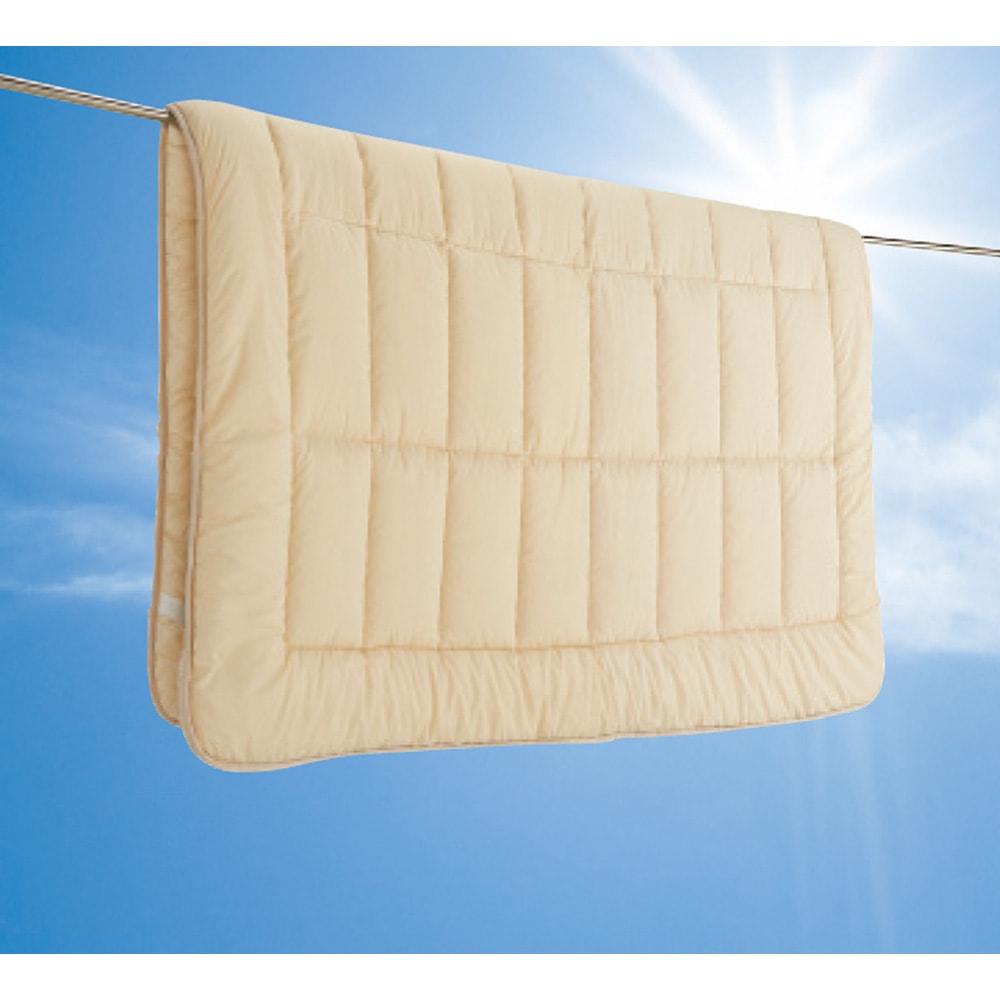抗菌コンパクト&ワイド敷布団専用ふかふか敷き上層パッドのみ ふかふか上層はさっと取り外して干すことができます。