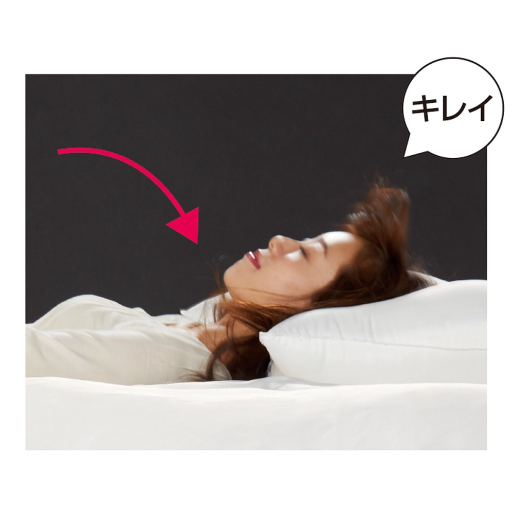 ミクロガード(R)プレミアム布団シリーズ 洗える枕 布団に倒れ込んでも、ホコリの吹き出しがほとんどありません。