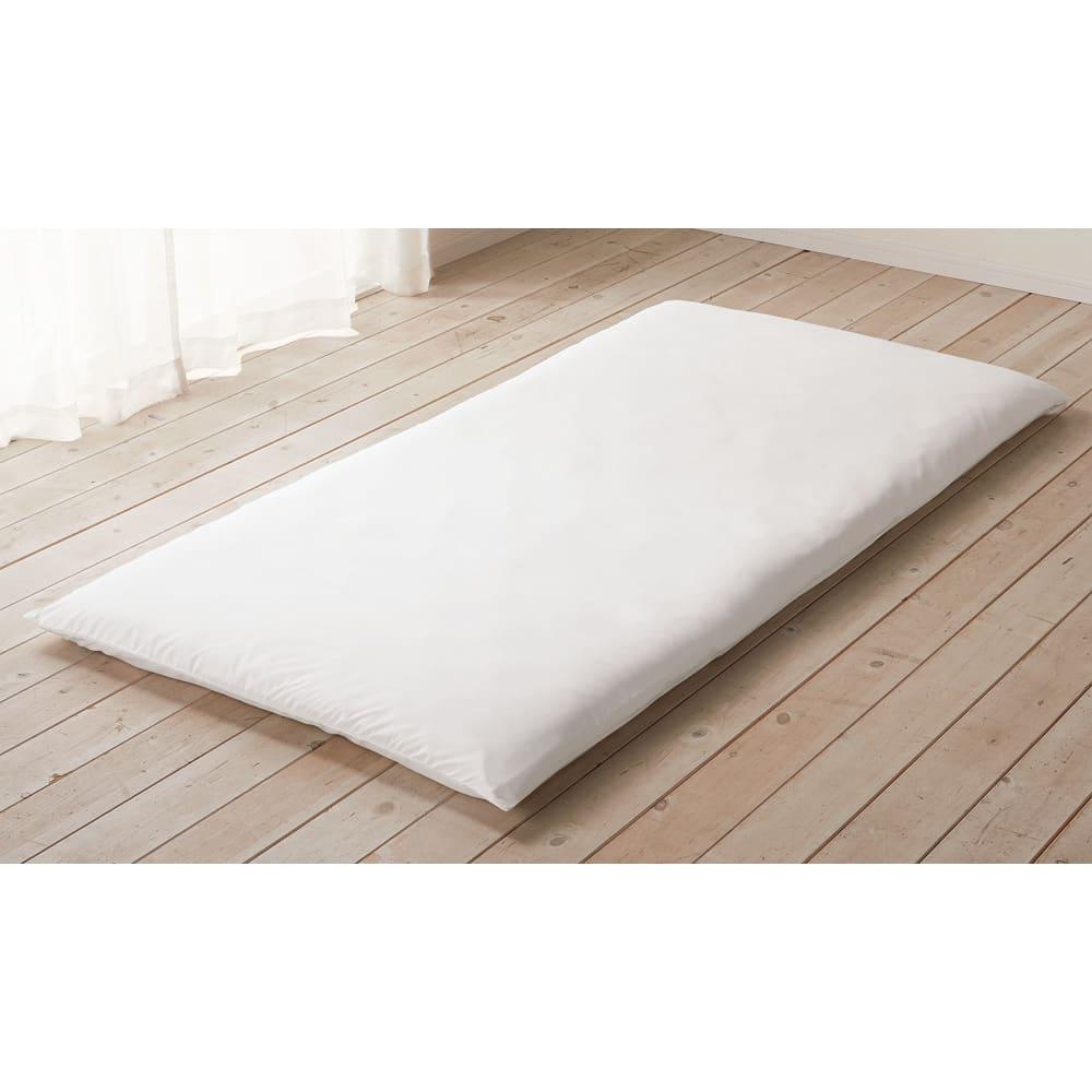 ミクロガード(R)防ダニ用寝具プロテクター 敷き布団用 お使いの敷き布団の上に防ダニカバーをセットし、その上にカバーリングをしてお使いください!