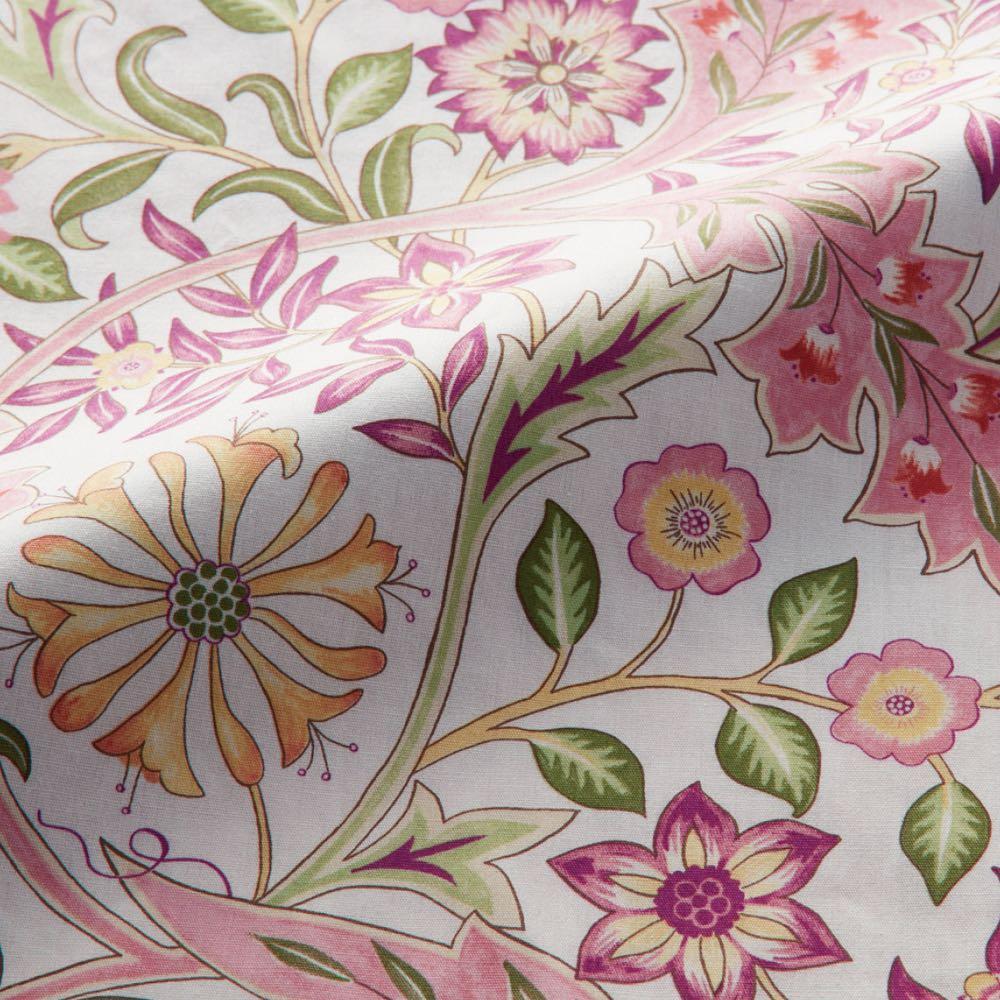 モリスギャラリー カバーリング〈ウィルヘルミナ〉 肌掛け布団 (イ)ピンク 表