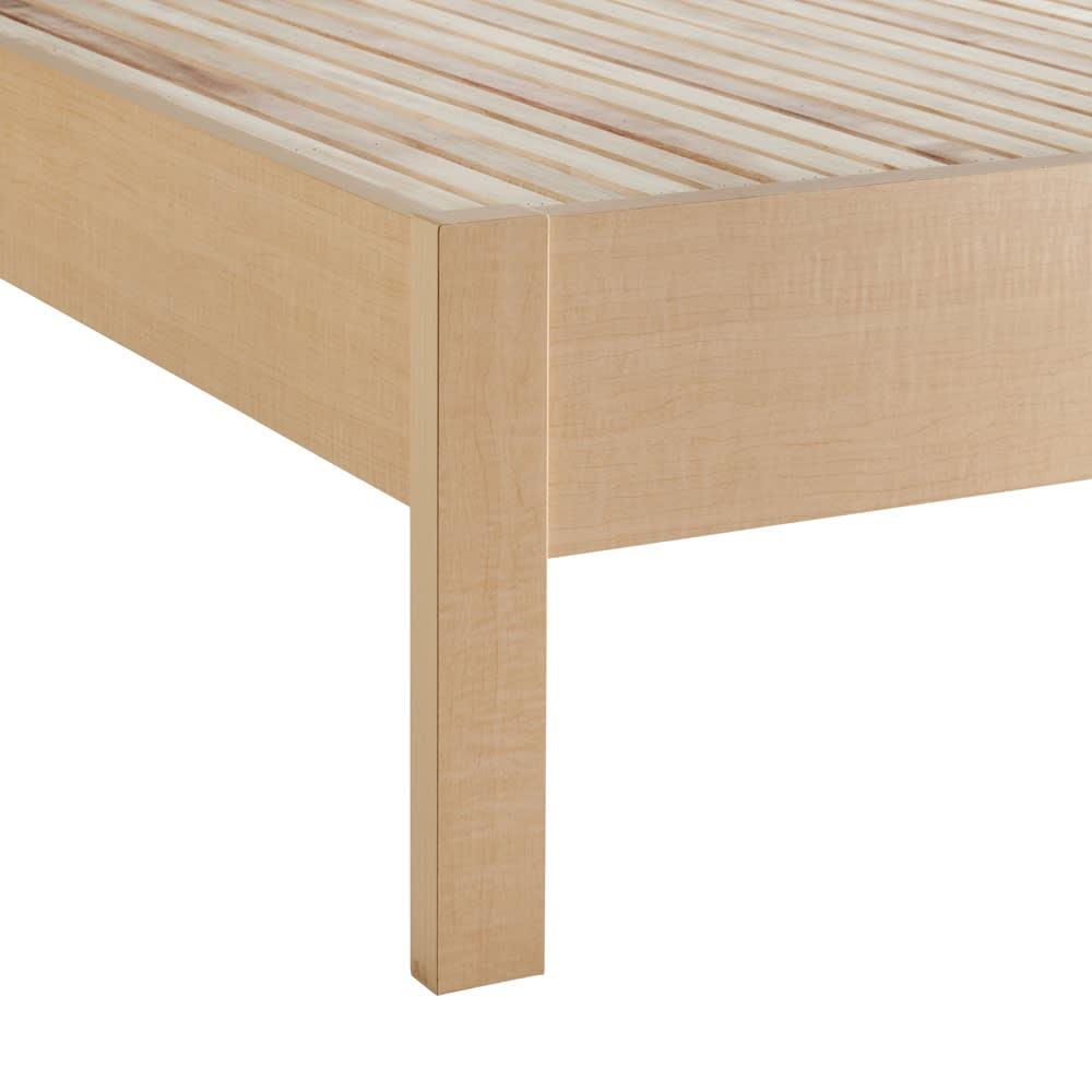 角あたりのない細すのこベッド 棚なし フレームのみ (ア)ナチュラル