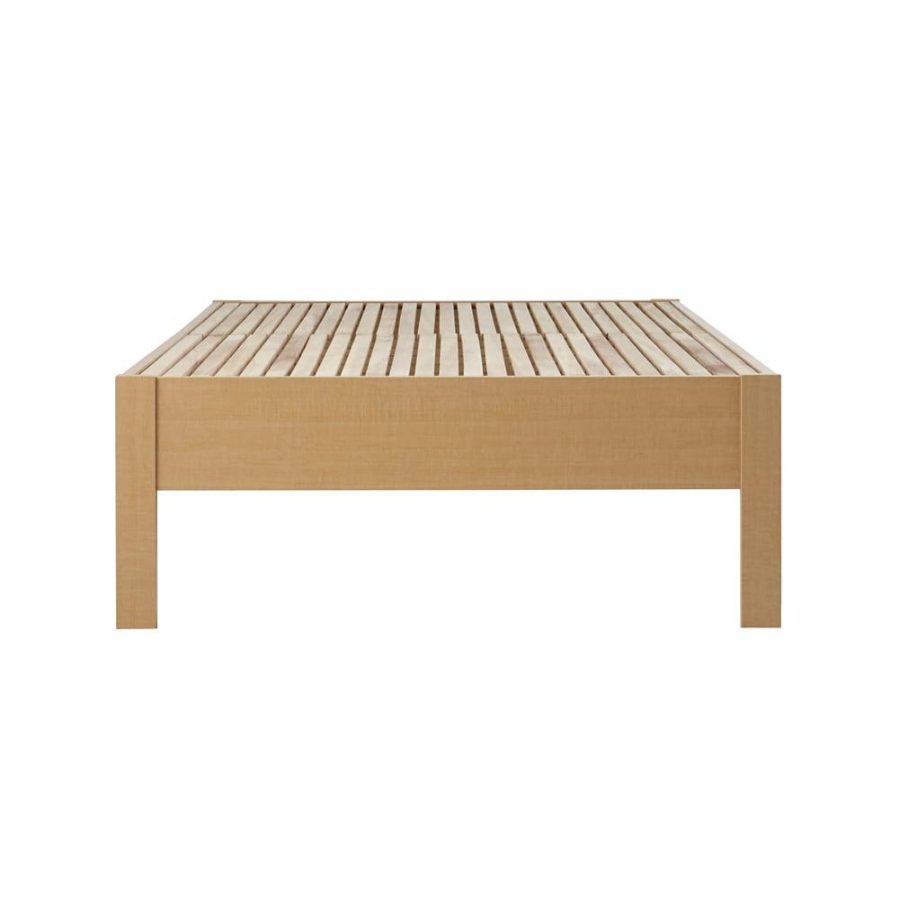 角あたりのない細すのこベッド 棚なし フレームのみ