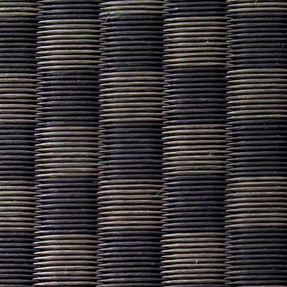 美草畳収納付きベッド 棚あり (ア)ブラック 素材アップ 畳は市松模様になっています。