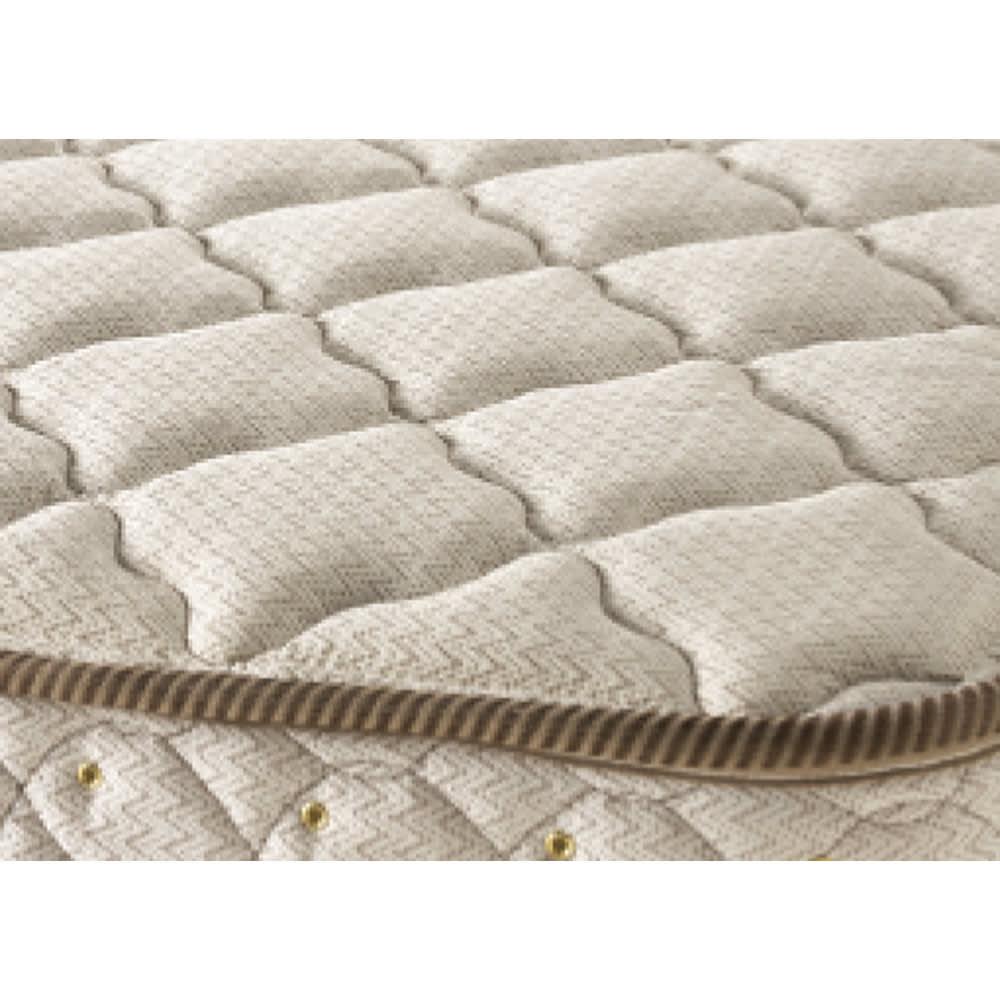 フランスベッド棚照明付きベッド マルチラススーパースプリングマットレス付き 高級感のある質感、表情をみせる魅力のジャカード織。