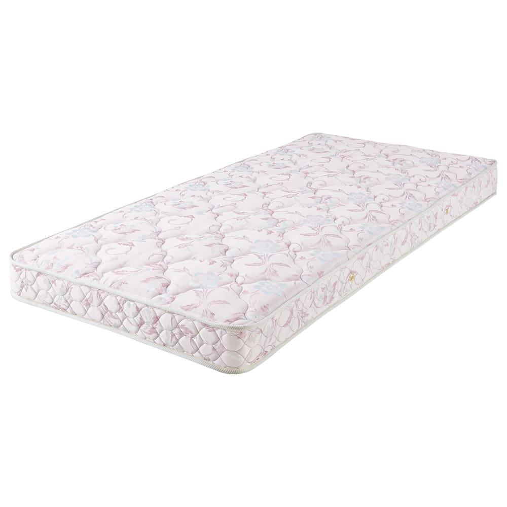 フランスベッド 棚照明付きベッド 羊毛綿入りマルチラススプリングマットレス付き 羊毛綿入りマットレス