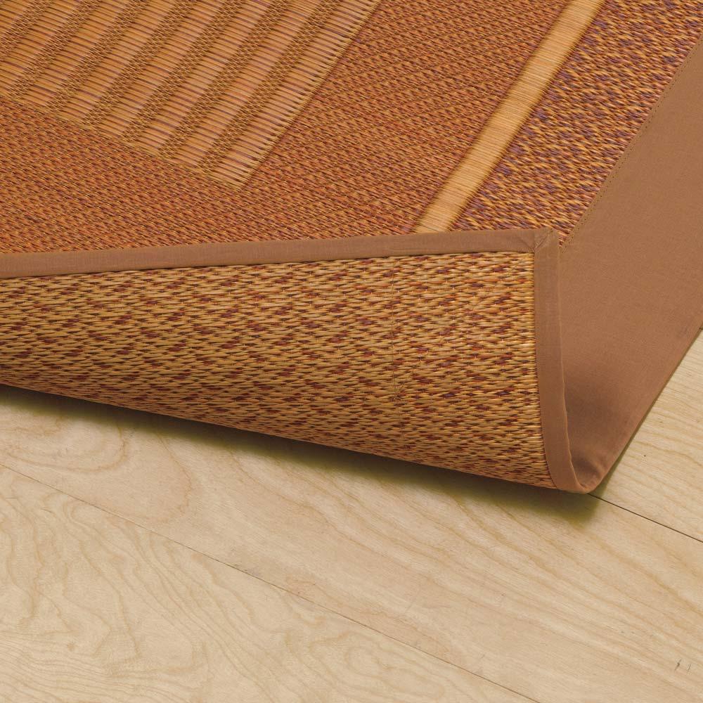 紋織りい草上敷き裏なし・細べり〈ランクス〉 【裏なし・厚さ約2mm】い草本来の触感や清涼感を活かした裏なしタイプ。