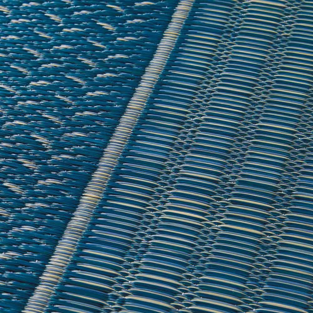 紋織りい草上敷き裏なし・細べり〈ランクス〉 (ウ)ブルー系