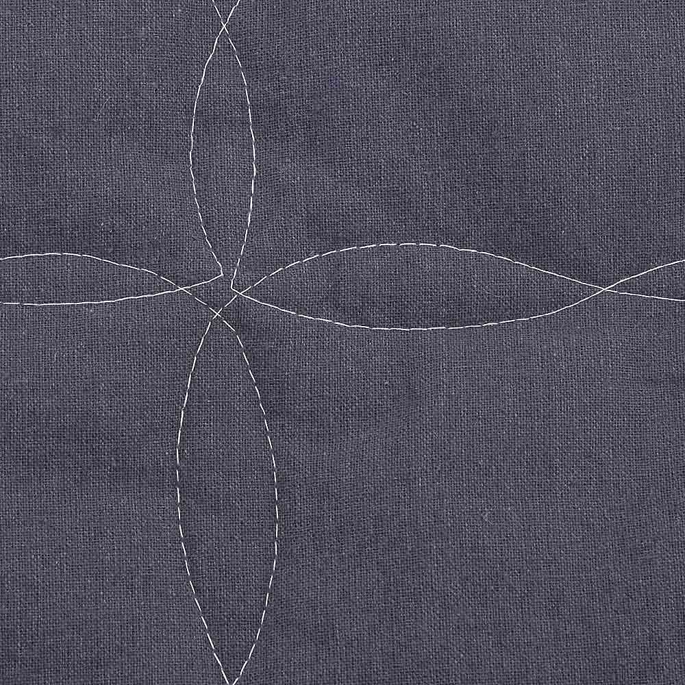 抗菌防臭 麻綿混ソファカバー アーム付タイプ [素材アップ](ウ)ネイビー