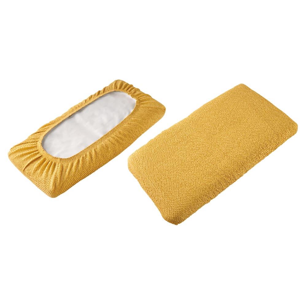 スペイン製フィットカバー〈ブリーロ〉 座面・背もたれ兼用カバー 裏面 表面 ※座面・背もたれ兼用カバーは全周ゴム式。