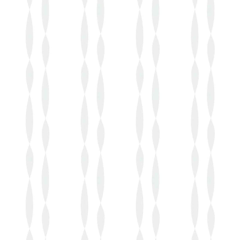 形状記憶加工多サイズ・防炎・UV対策レースカーテン 130cm幅(2枚組) ウェーブ柄 (ウ)レースの柄イラスト