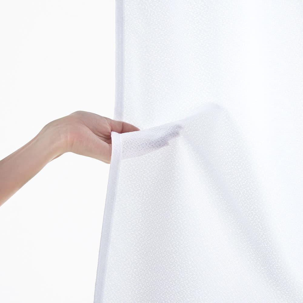 遮熱・防炎スーパーミラーレースカーテン 幅100cm(2枚組) (使用イメージ)