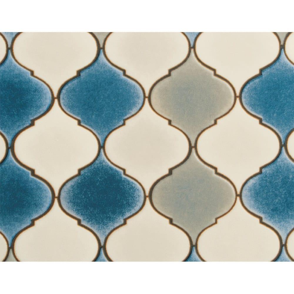 サンゲツ プリントデスクマット約90×120cm モロッカン柄 モロッカン柄(ア)ブルー系