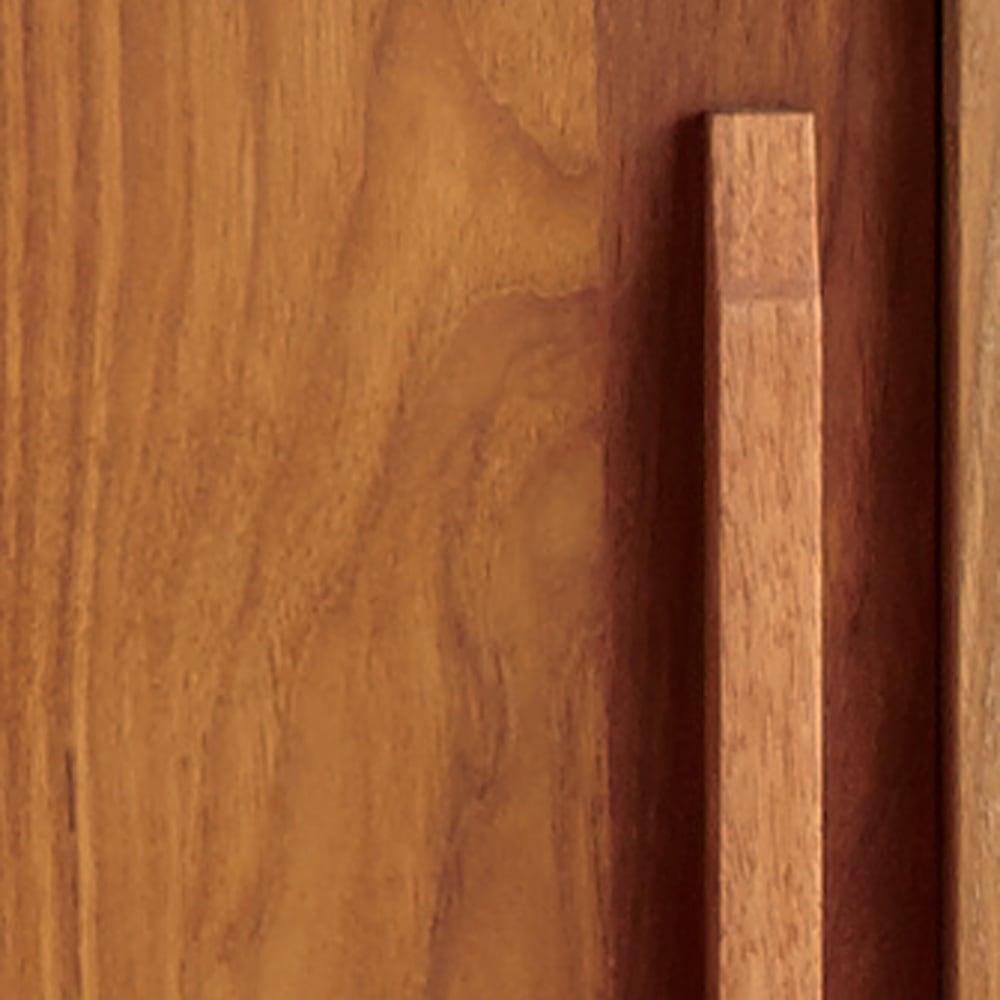 北欧ヴィンテージ風 チーク材 リビング収納 テレビ台 幅150cm チーク材の木目を活かした、味わい深いオイルフィニッシュ。