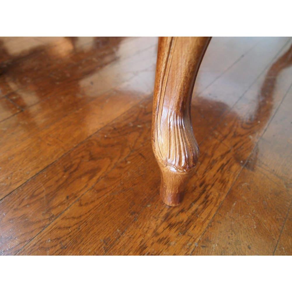 イタリア製象がんシリーズ リビングテーブル 幅100cm くるんと愛らしい人気の猫脚仕様です。
