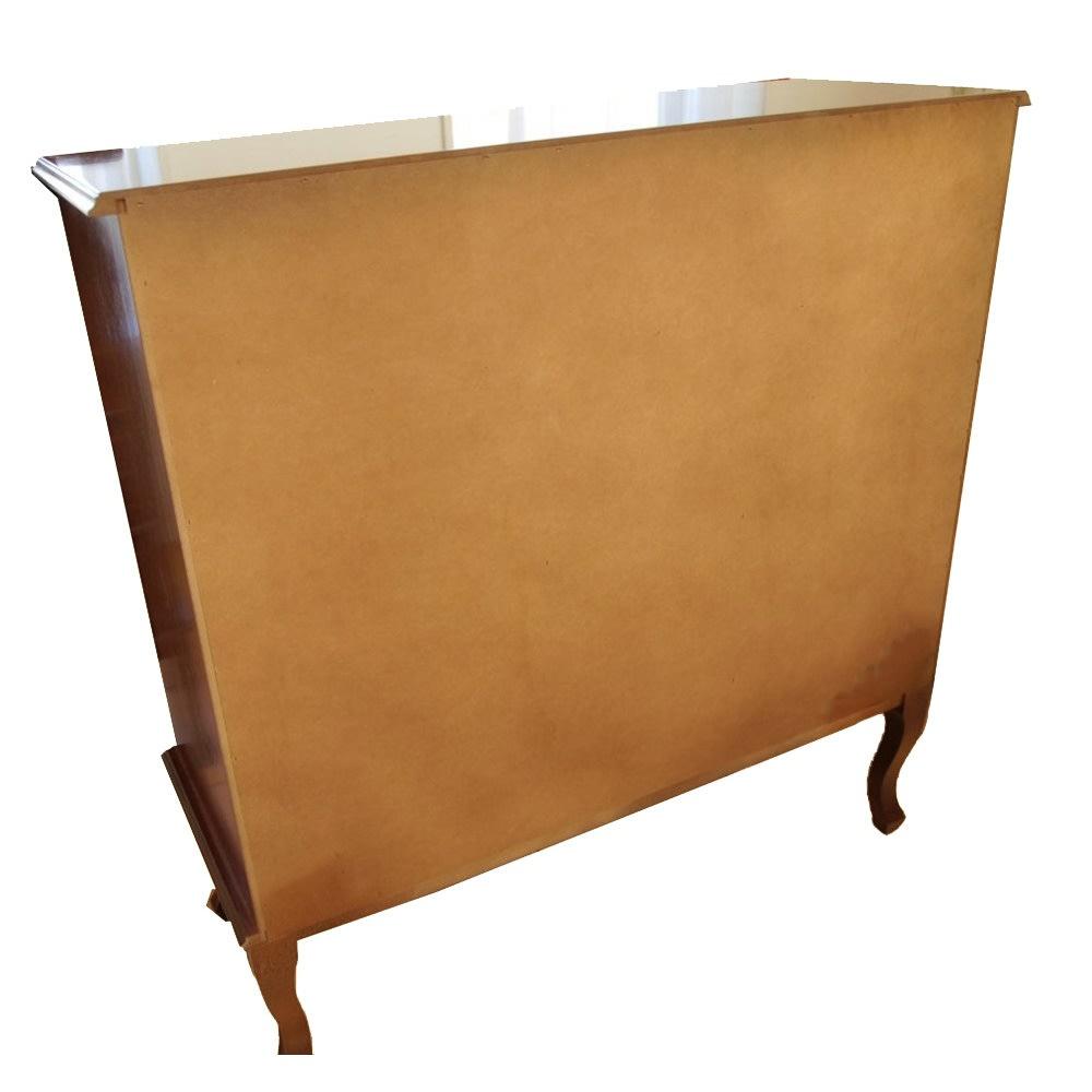 イタリア製 象がん 収納家具 猫脚 コンソール チェスト キャビネット 背面にはほとんど塗装がありません。壁につけての使用をお勧めします。