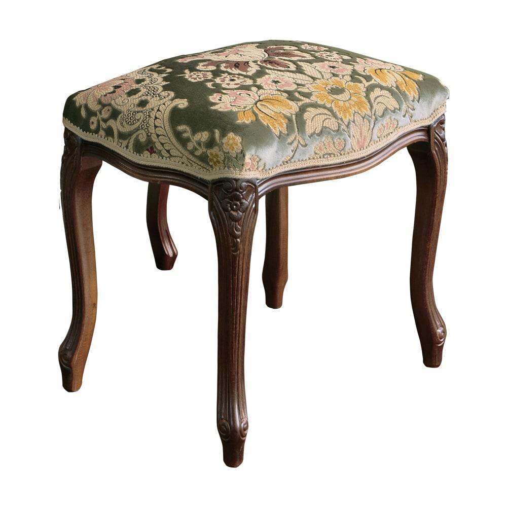 イタリア製金華山織シリーズ スツール ピアノやお仏壇の前、玄関先にもちょうどいい、コンパクトサイズの椅子です。