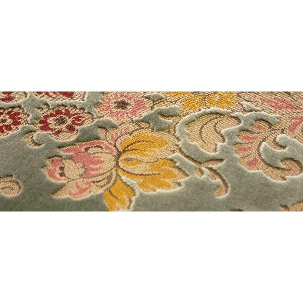 イタリア製金華山織シリーズ スツール (生地アップ) 西陣織に用いられることが多い高級毛織物金華山織。しっとりとした張り地の立体感も魅力。