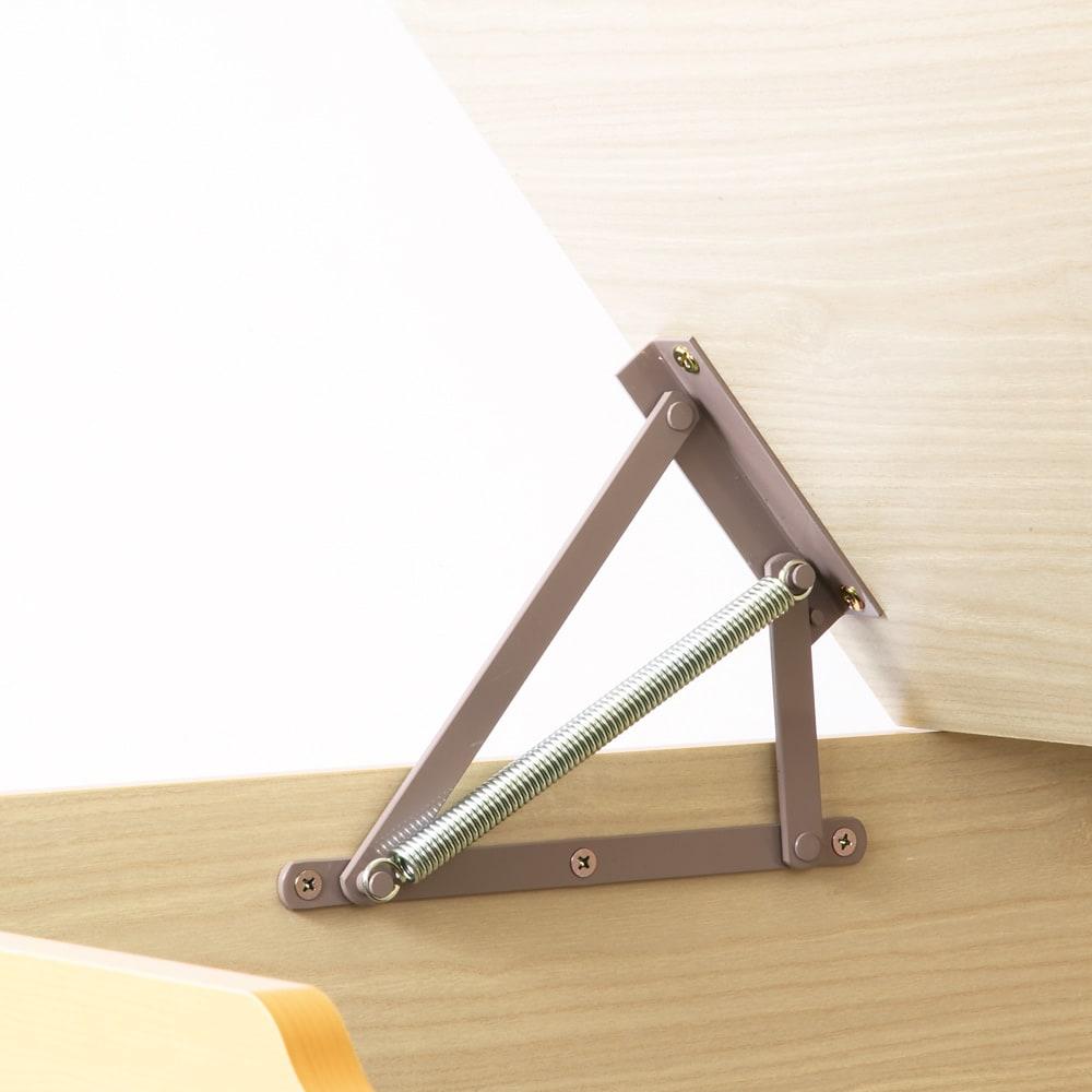 跳ね上げ式ユニット畳 ヘリ有り半畳 高さ33cm 畳が簡単に持ち上がるスプリングの跳ね上げタイプ。