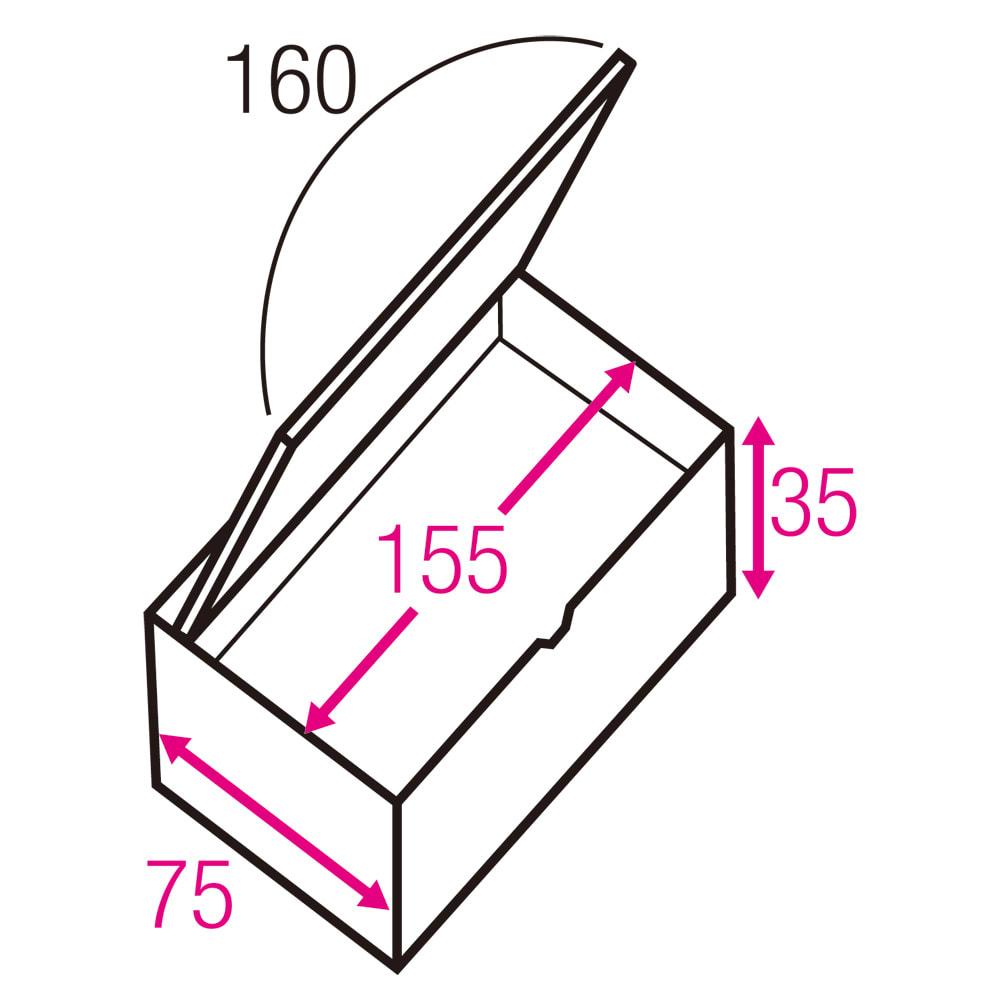跳ね上げ式ユニット畳 お得なセット ヘリ無し3畳セット 高さ45cm 寸法図(単位:cm) ※赤文字は内寸、黒文字は外寸表示です。※内寸高さは35→37.5cmに変更となりました。