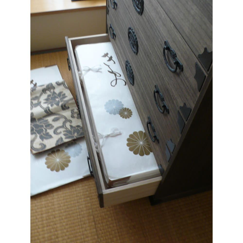 総桐民芸箪笥 5段ハイチェスト・幅100高さ98.5cm
