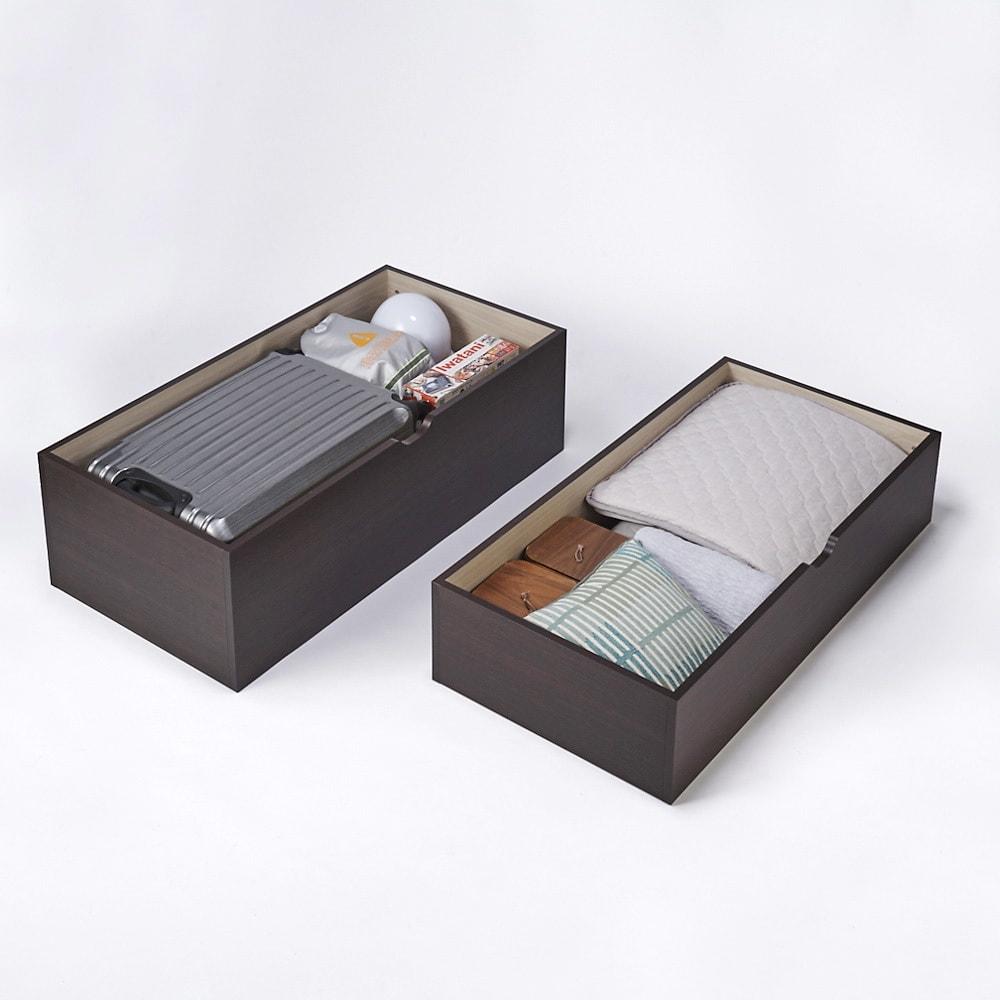 市松模様美草ユニット畳シリーズ セット品 高さ30cm 普段は使わないトランク、防災用品、衣類など様々なものを収納できます。