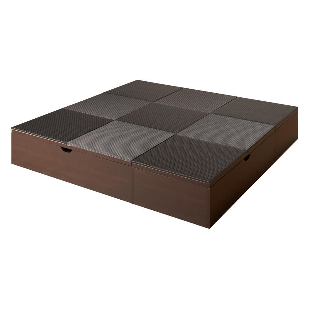 市松模様美草ユニット畳シリーズ セット品 高さ30cm (ア)ブラック ※写真は4.5畳セットです。