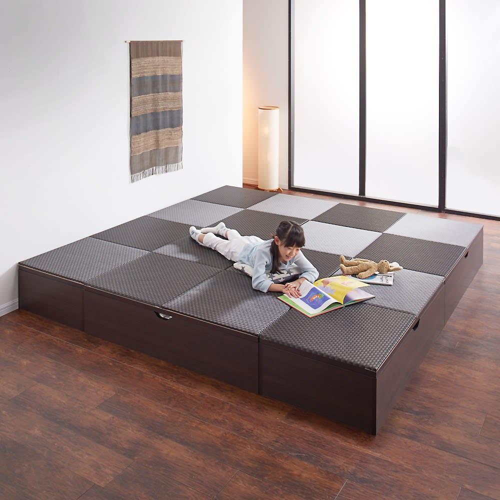 市松模様美草ユニット畳シリーズ セット品 高さ40cm コーディネート例