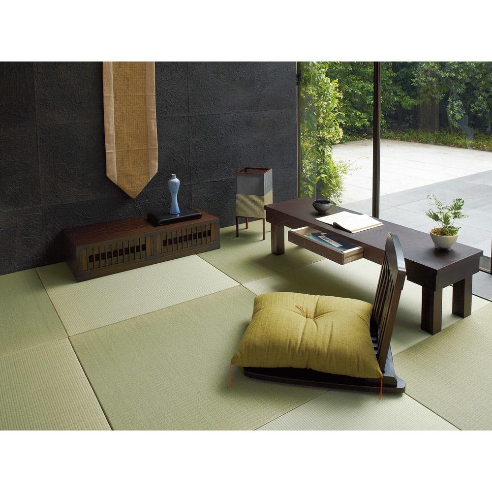 へりなしフロア畳 3畳用(6枚組)[い草ラグ] 敷くだけで和モダンな空間を実現する畳ラグ。