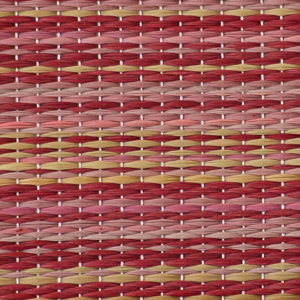 へりなしフロア畳 ミックス色 素材アップ(エ)レッド系