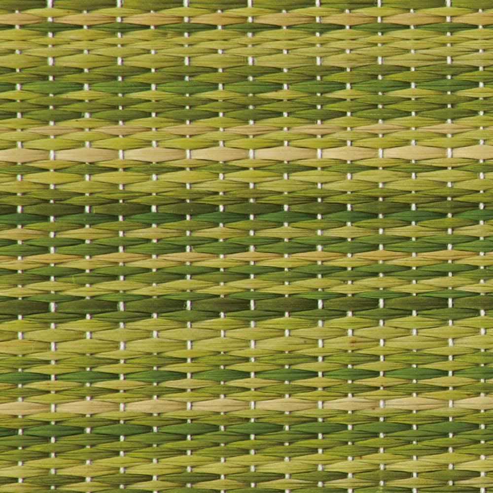 へりなしフロア畳 ミックス色 素材アップ(ア)グリーン系
