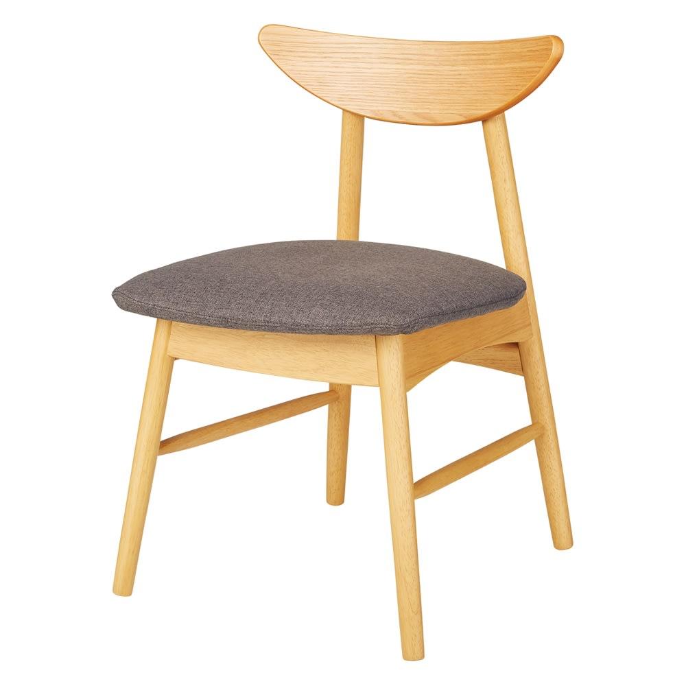 省スペース半円ダイニングセット 4点セット(テーブル幅120cm+カバーが洗えるチェア2脚組+カバーが洗えるベンチ) (イ)ナチュラル×グレー