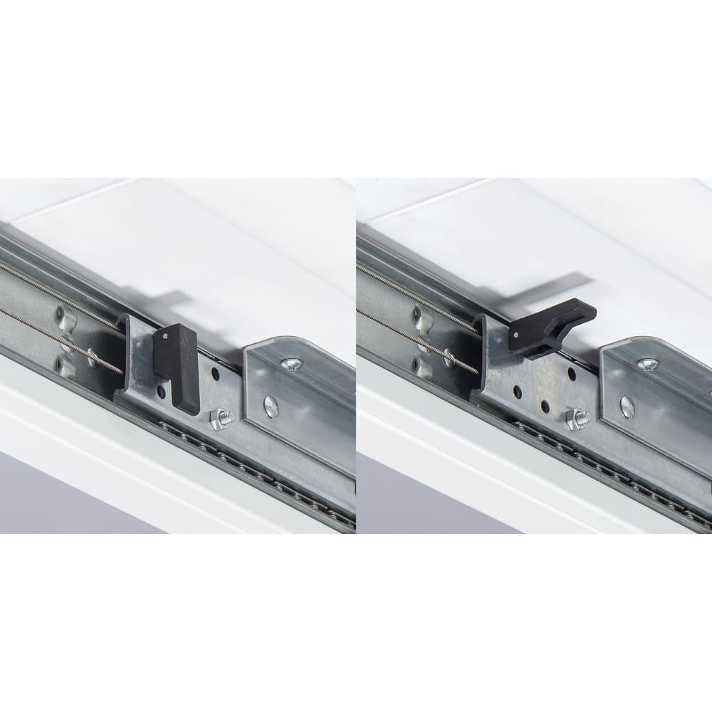 簡単伸長!スマート伸長式テーブル 幅140・180cm テーブルは天板裏にストッパー付きなので、天板が自然にずれる心配はありません。