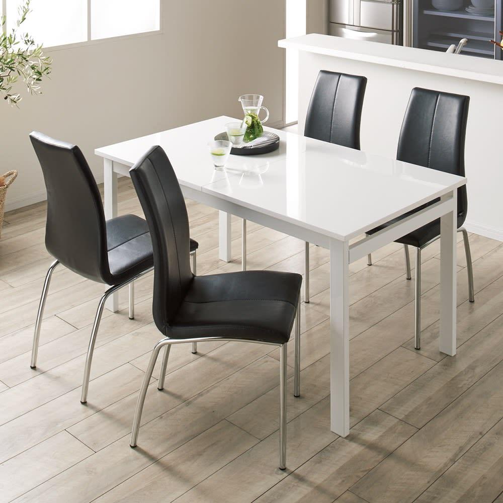 簡単伸長!スマート伸長式テーブル 幅140・180cm (テーブル通常時) ※お届けは伸長式テーブルのみです。