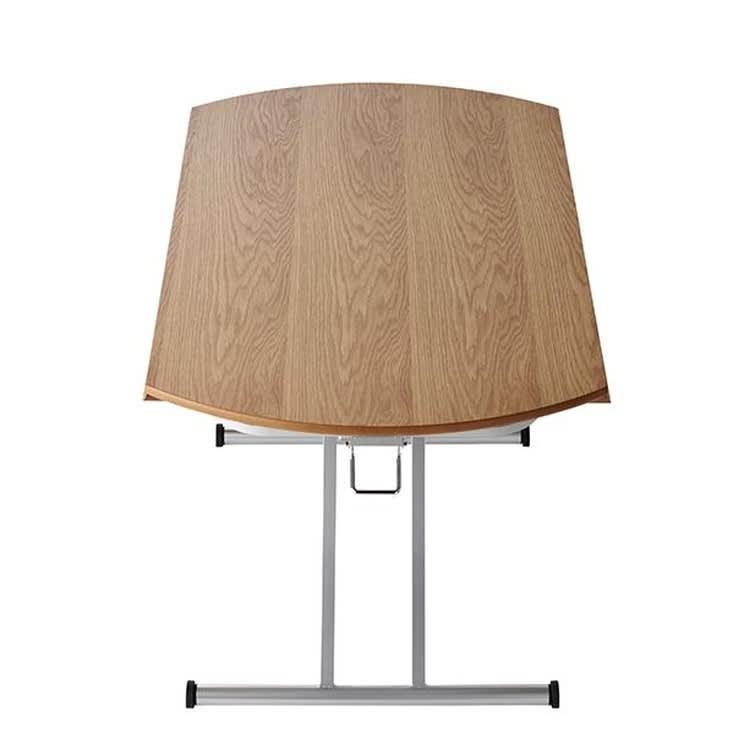 丸形昇降バタフライテーブル幅100 本体を両側折りたたんだ場合幅100奥行60cm)