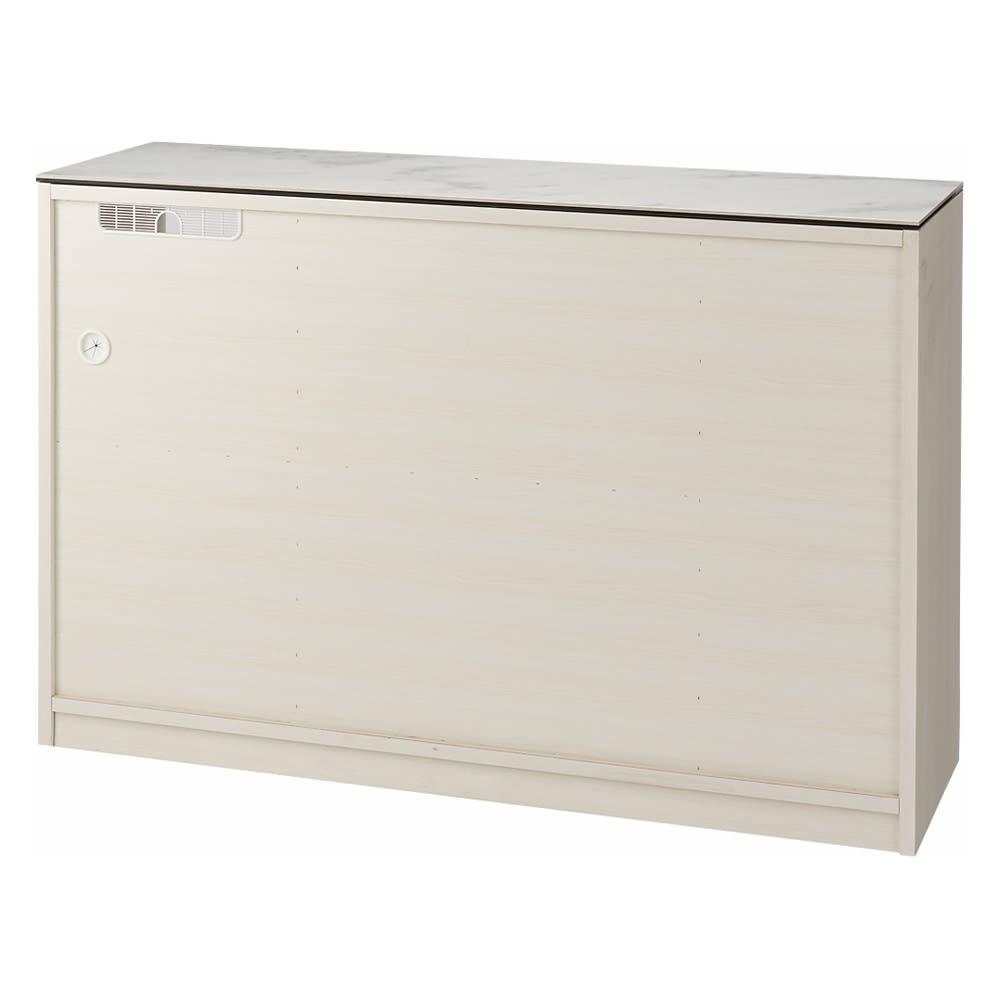 セラミック天板キッチンカウンター 幅120cm 背面(イ)ホワイト木目 ※写真は幅140cmタイプです。