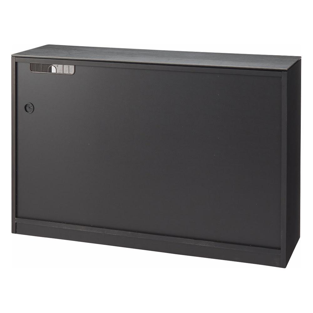 セラミック天板キッチンカウンター 幅140cm 背面(ア)ブラウン