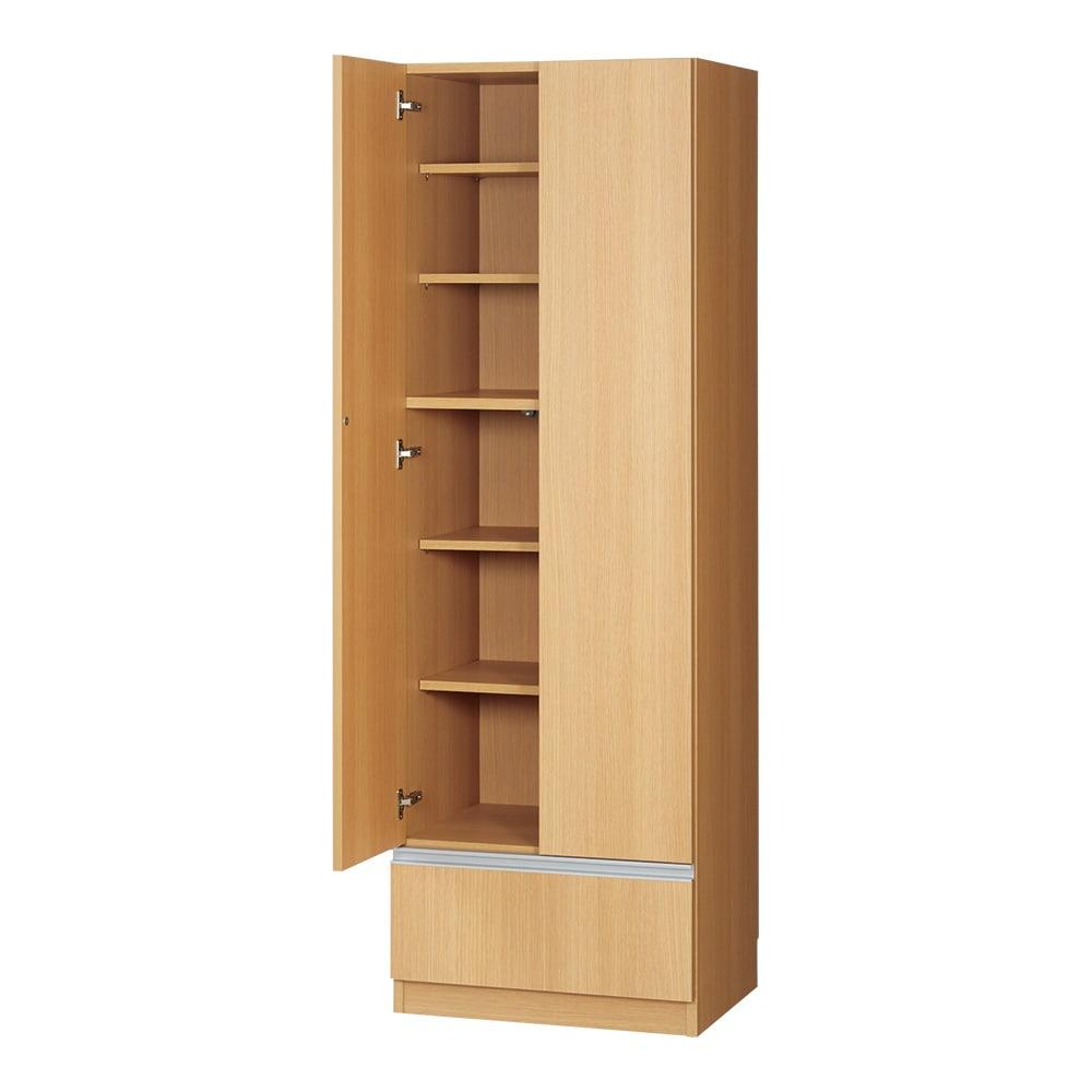 食器もストックもたっぷり収納!天井ぴったりキッチンシリーズ 食器棚 幅60cm奥行45cm お届けは【 幅60cm奥行45cm】です。 (イ)ナチュラル