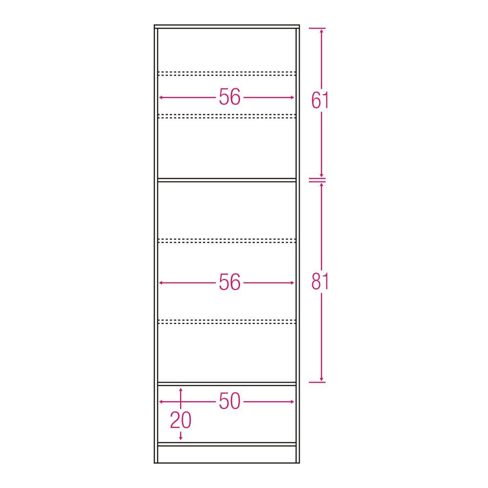 食器もストックもたっぷり収納!天井ぴったりキッチンシリーズ 食器棚 幅60cm奥行45cm 内寸図(単位:cm)