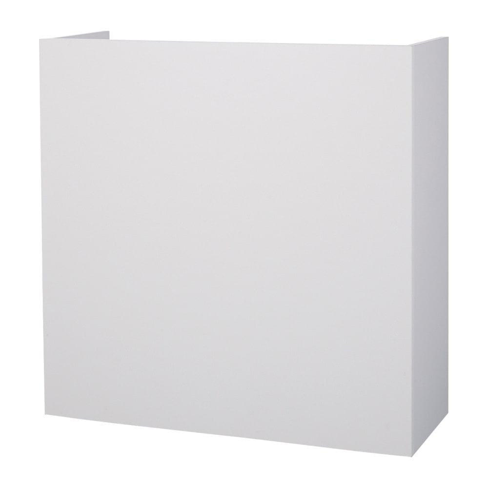 隠せるカウンター下収納 棚タイプ 幅79高さ80cm (イ)ホワイト 背面